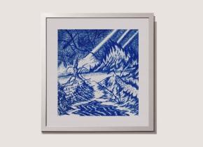Titulo: 010519 - 47x49 cm - lápiz dermografico sobre papel blanco Año: 2019