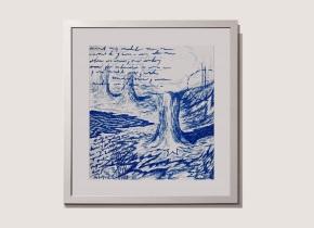 Titulo: 100519 - 47x49 cm - lápiz dermografico sobre papel blanco Año: 2019
